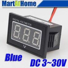 ARGEDO 50 шт./лот Синий DC 3~ 30 в цифровой вольтметр Вольт Панель метр Водонепроницаемый Защита от разворота# BV176@ SD