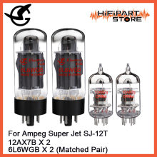 Shuguang Tube Upgrade Kit For Ampeg Super Jet SJ-12T Amps 12AX7B X 2 6L6WGB X 2(China)
