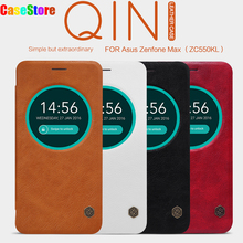 Nillkin For Asus Zenfone Max (ZC550KL) QIN leather Case NILKIN luxury Protective cover Slot filp cover Capa for Zenfone Max