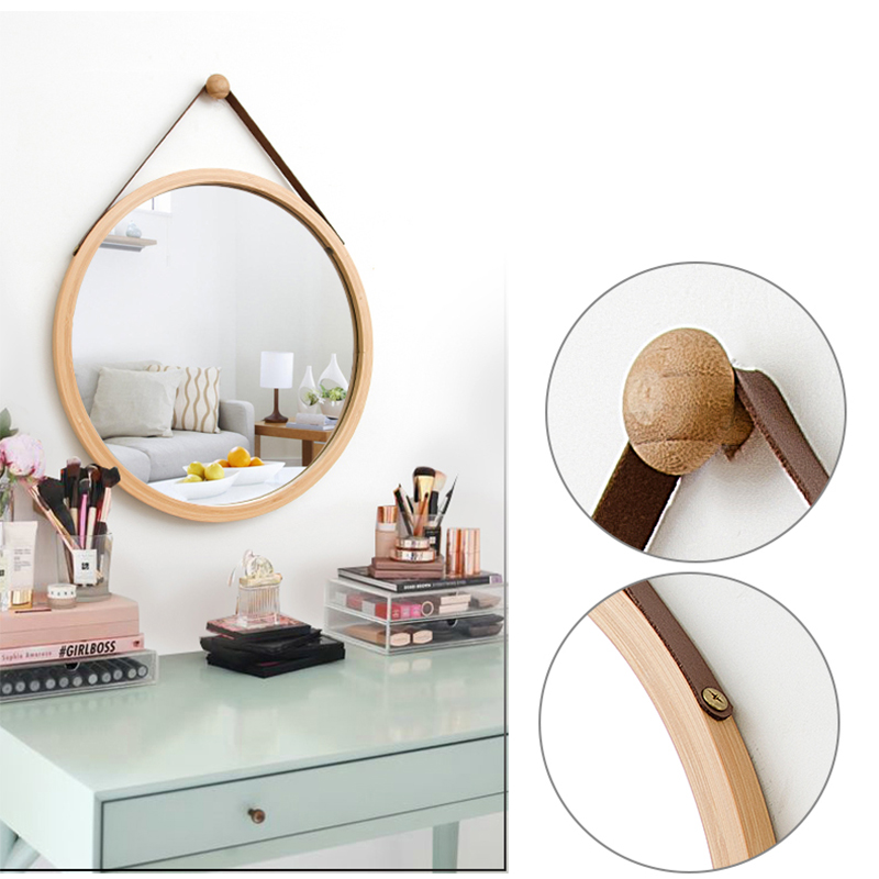 Wall Hanging Round Sqaure Creative Simple Bathroom Decoration Vanity Mirror цена 2017