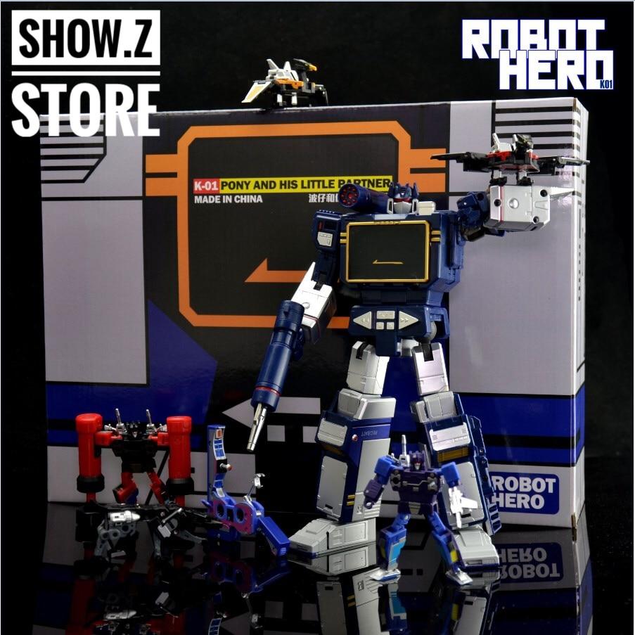 [Montrer. Z Magasin] Robot Hero K-01 Poney MP-13 Chef-d 'Œuvre Comprend 6 Conversion Microcassettes MP Taille