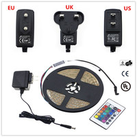 5m 300LEDs RGB LED Strip Light DC5V Lighting IP65 Waterproof Cuttable With Remote Controler Strip