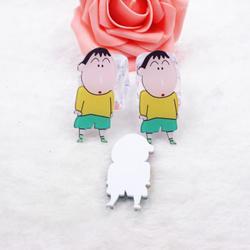 10 шт./лот милый мультфильм DIY патч Crayon Shinchan фигурка ремесла чехол для телефона коробка для хранения интимные аксессуары дети ремесло игрушка