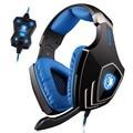 SADES A60 fone Jogo Função de Vibração e Som Surround 7.1 Professional Gaming Headset Fone De Ouvido Fone de Ouvido 3 Cores CONDUZIU a Luz
