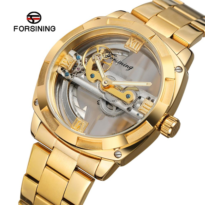 Forsining 207 Top Luxury Men Wrist Watches Stainless Steel Skeleton Tourbillon Transparent Case Male Automatic Mechanical WatchForsining 207 Top Luxury Men Wrist Watches Stainless Steel Skeleton Tourbillon Transparent Case Male Automatic Mechanical Watch