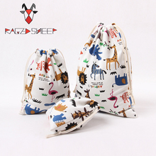 Яростная овца, модные хлопковые сумки для покупок, складные сумки для покупок, Экологичная сумка для покупок, многоразовая сумка с принтом в виде зоопарка