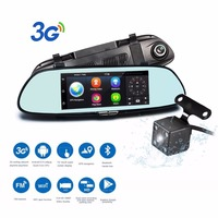 Podofo Wifi 3G Car DVR 7 Android 5 0 GPS Navigation Video Recorder Registrar Bluetooth Dual