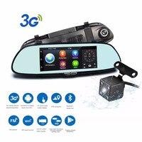 Podofo Wifi 3G Car DVR 7 Android 5 0 GPS Navigation Video Recorder Registrar Bluetooth Dual