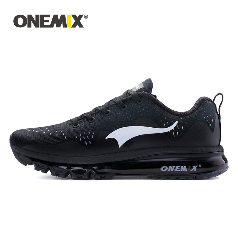 ONEMIX Men's Running Shoes Cool Sports Sneakers Damping Cushion Breathable Knit Fresh Mesh Vamp Outdoor Walking Jogging Shoes