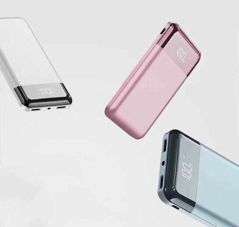 حار 30000 mah قوة البنك المحمولة شاحن USB ثنائي الناتج هاتف محمول الخارجية حزمة بطارية مع مصباح ليد ل iPhone7 8 9 باد