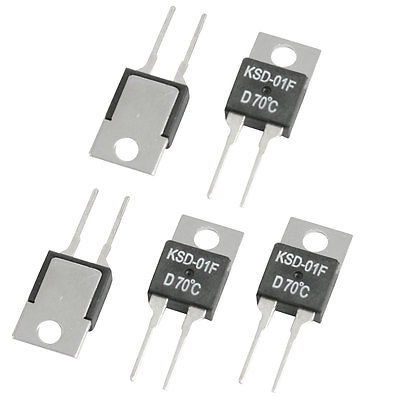 цена 5 Pcs 35C/40C/45C/50C/55C/60C/70C/75C/80C/85C/90C/100C/120C NC Temperature Control Switch Thermostat KSD-01F 250VAC/ 24VDC 1.5A