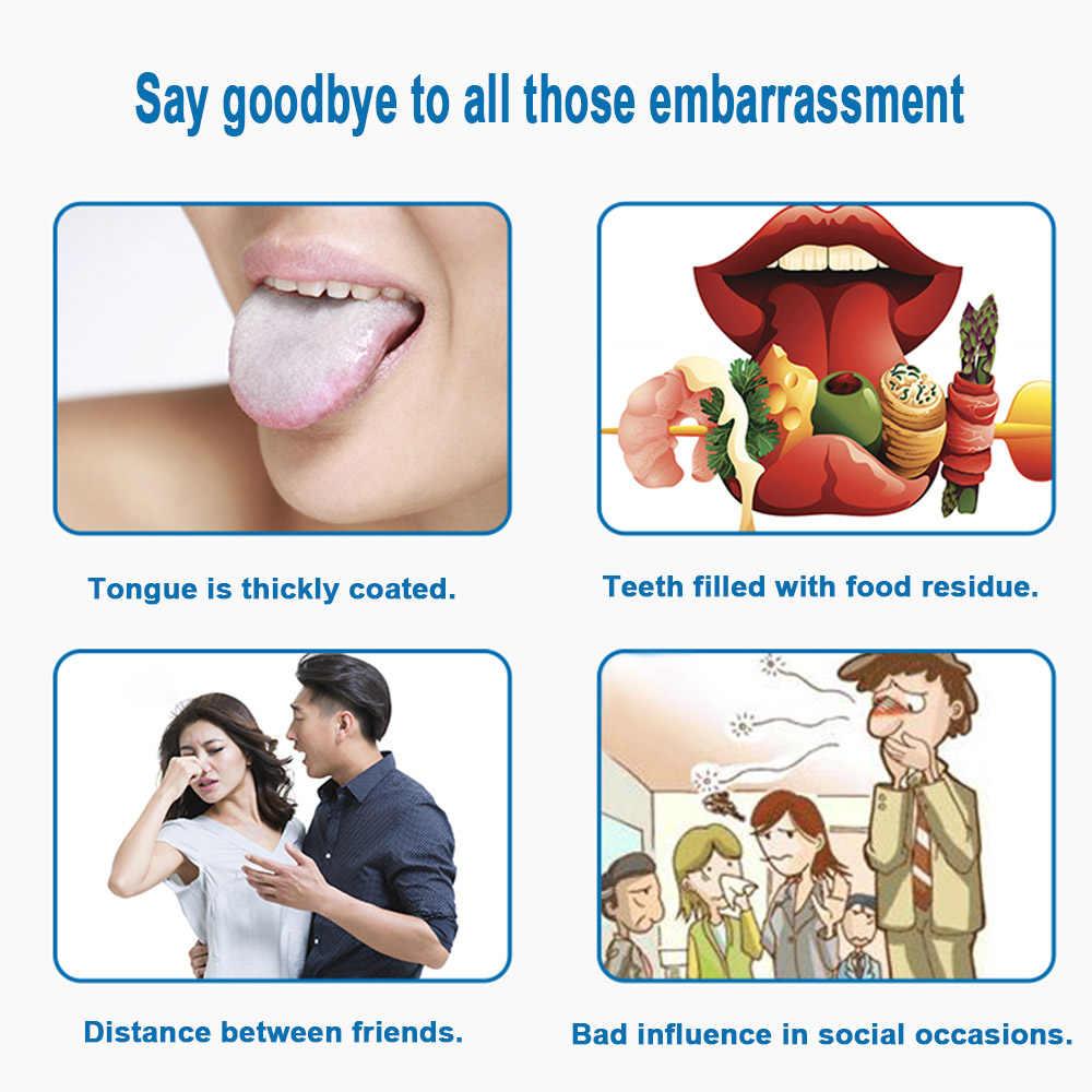 In Acciaio Inox Tongue Cleaner Raschietto Lingua Raschietto Igiene orale Alito Cattivo Spazzatrice Strumento di Salute Spazzolini Da Denti partner Igiene orale