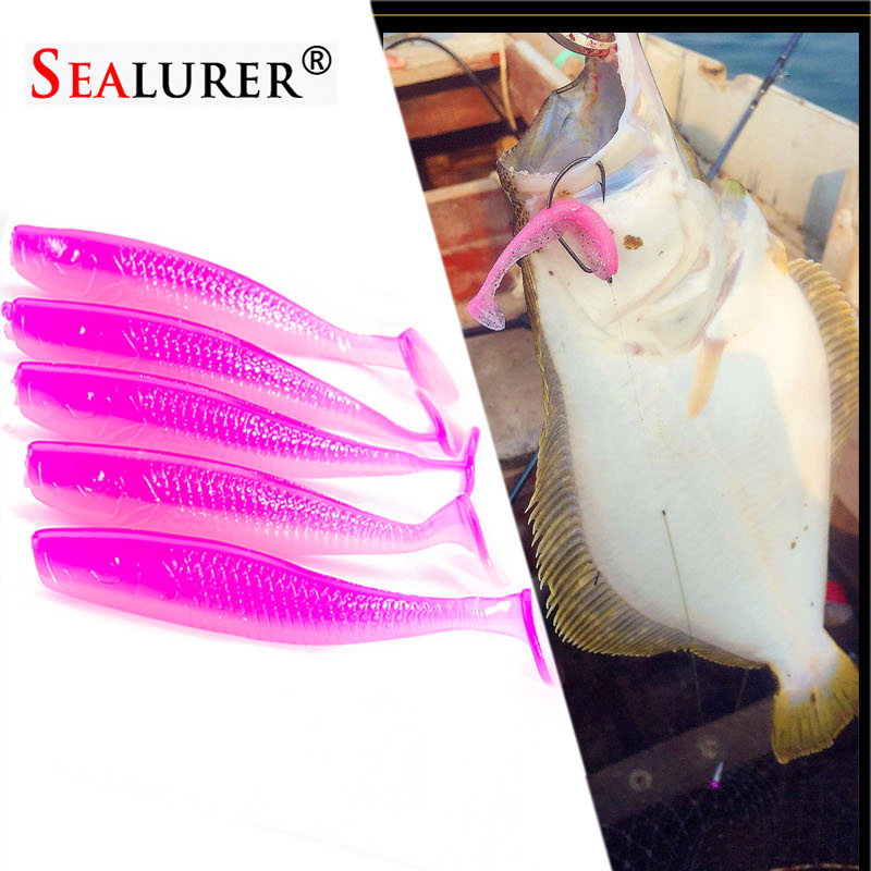 SEALURER Saltwater Fishing Lure Shad Soft Bait 5pcs/set 7cm2.7g Isca Artificial Fishing Baits Carp Sea Fishing Silicone Baits rompin 100pcs bag red carp fishing bait smell grass carp baits fishing baits lure formula insect particle rods suit particle