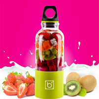 500ML Portable Juicer USB Rechargeable Electric Automatic Vegetables Fruit Juice Milk Blender Mixer Shake Mixer Water Bottle A7c