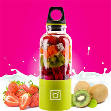 500ML Portable Juicer USB Rechargeable Electric Automatic Vegetables Fruit Juice Milk Blender Mixer Shake Mixer Water Bottle A7c