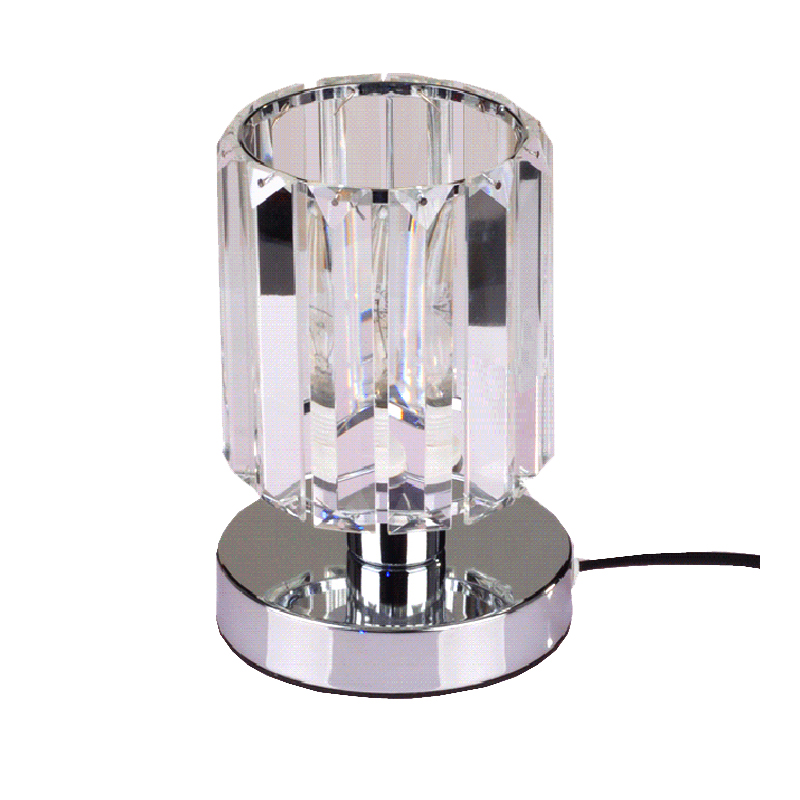 Новый дизайн кристалл настольные лампы chrome свет стол блеск ночники Бесплатная доставка