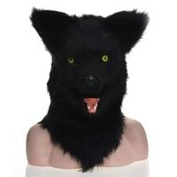 Moving Mouth Mask Animal Mask Black Wolf Animal Carnival Face Masks