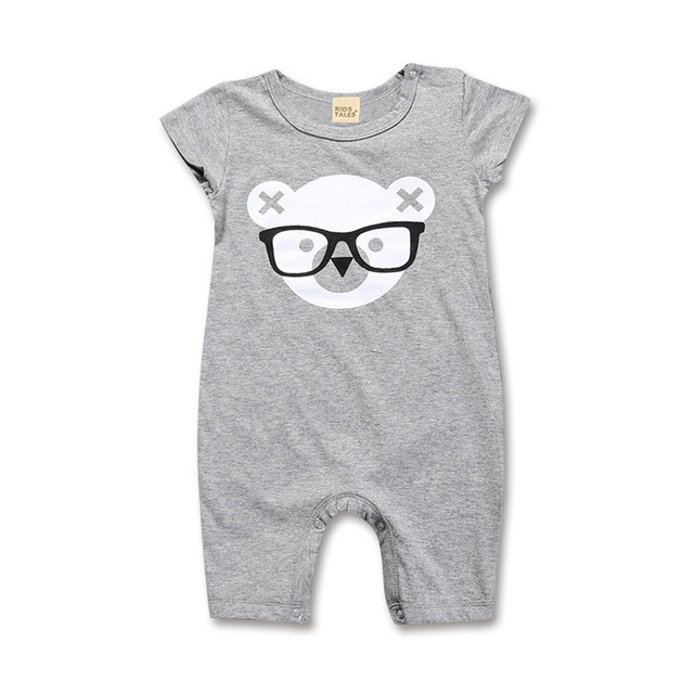 Unisex Baby Romper 2019 Summer Short Sleeve New Born Baby Girl Clothes Cartoon Print Baby Boy Romper Toddler Rompers 0-24M 3