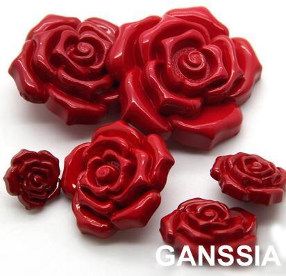 8 шт./лот Романтический красная роза кнопка одежды одинаковая пуговицы швейные принадлежности красивая (ss-1411-450)