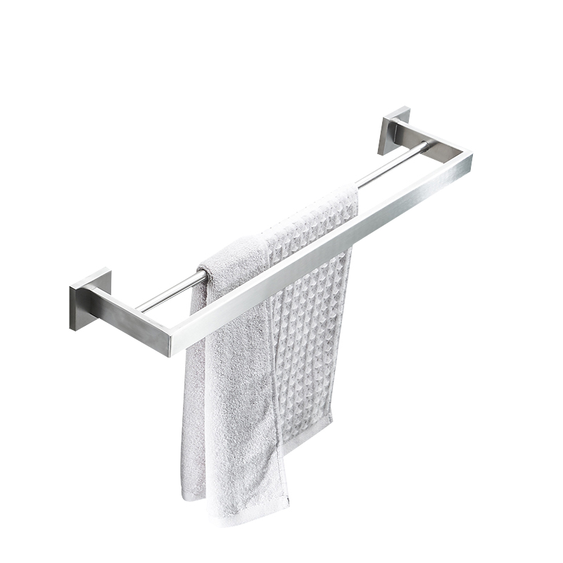 AUSWIND Modern Hotel Towel Rack 304 Stainless Steel towel bar Bathroom Hardware Towel 2 Rod Wall Mounted Bathroom Accessories new automatic door closer mayitr household adjustable stainless steel hotel office surface mounted closing device for hardware