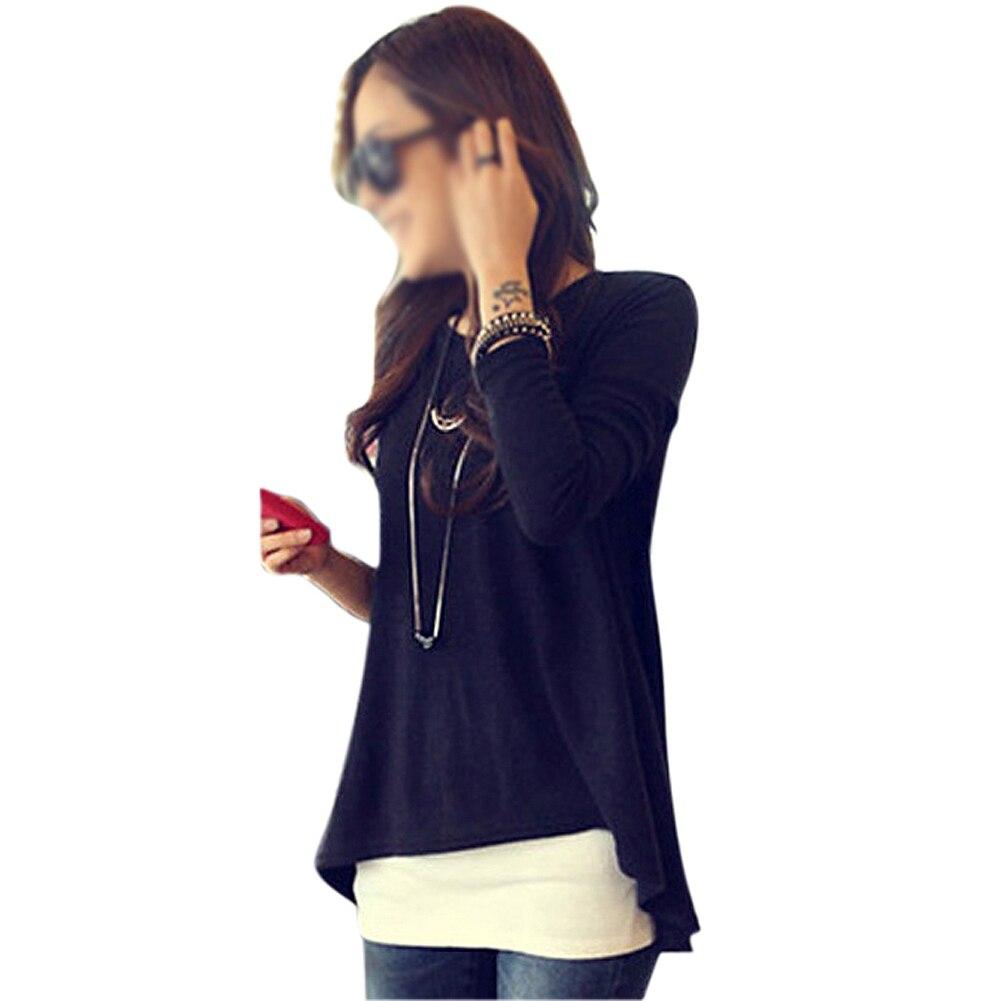 IMC замечательные новые корейские хлопковые топы «летучая мышь» Женская одежда мини с длинным рукавом Нерегулярные Топы 34