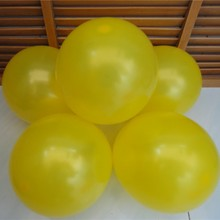 New supply free shipping 10 inch 1.8g 100pcs yellow ball latex balloon wedding celebration modeling photo shoot decorative items