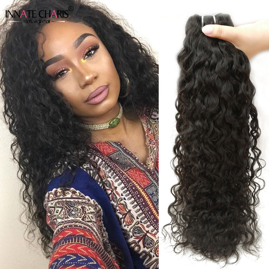 8a Brazilian Water Wave Virgin Hair 4pcs Lot Natural Curly