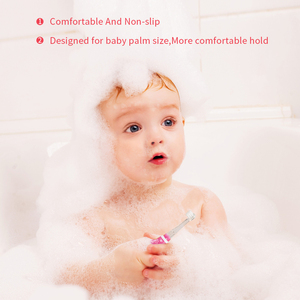 Image 2 - 電気歯ブラシ子供バッテリ駆動とスマートタイマー幼児歯ブラシソニック内蔵カラフルな led ライト購入 1 取得 1 送料