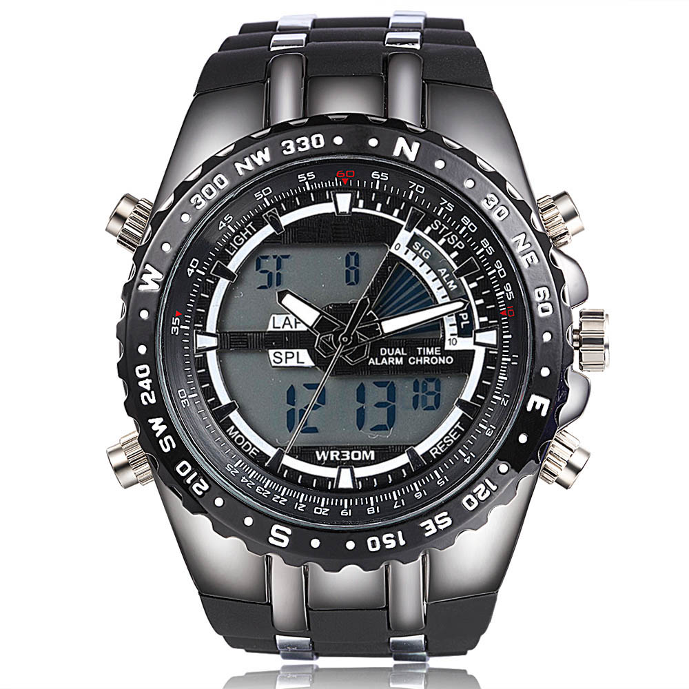 Sport Men's Quartz Analog Digital LED Watch