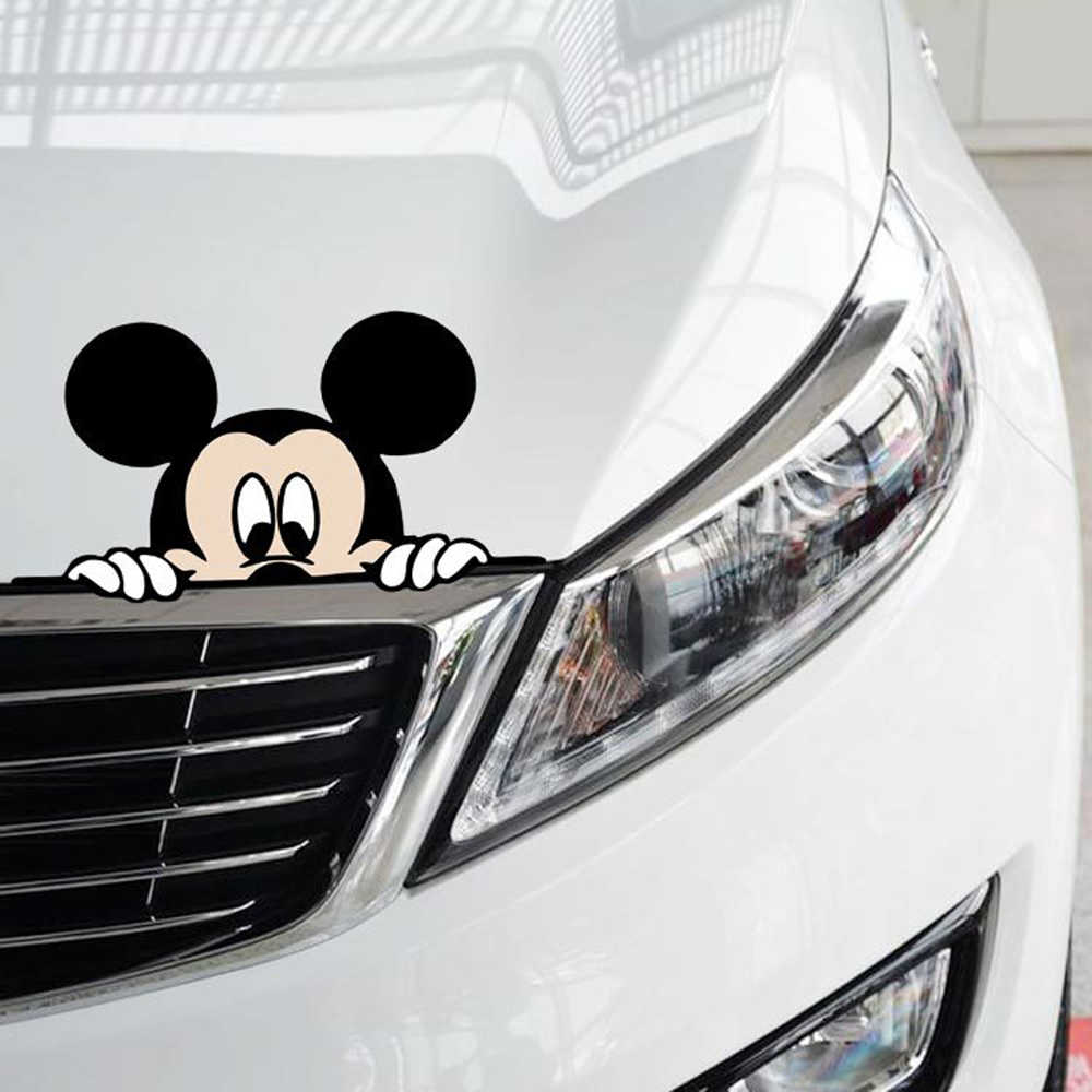 Detail feedback questions about aliauto funny car sticker cute mickey mouse peeping cover scratches cartoon window decal for motorcycle vw bmw e46 ford
