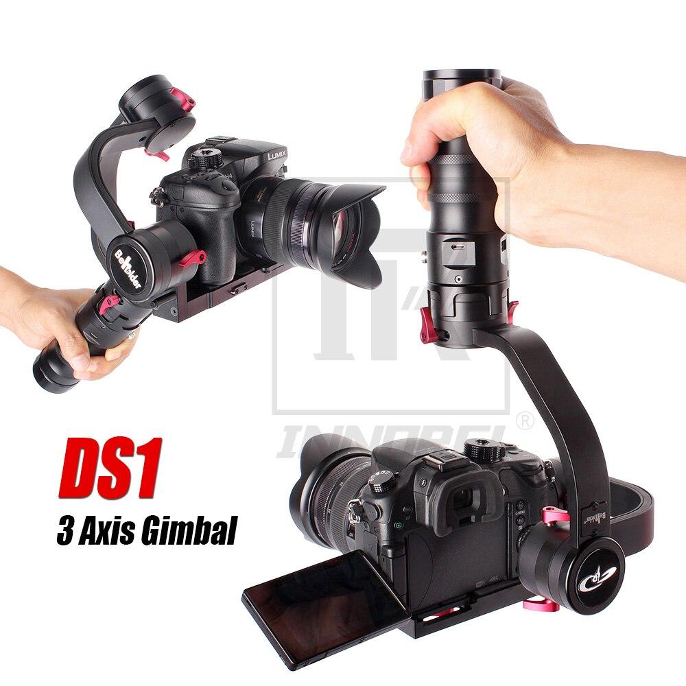 Beholder DS1 3 Axis Handhled Gimbal Stabilzier Brushless Steadicam For Digital DSLR Camera Canon 7D 5D2 5D3 GH4 A7 Steadycam