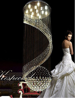 Modern Crystal Chandelier Hanging Ceiling Lamp Fixtures with LED Source Clear K9 Crystal 21KG GU10 Bulb Included Electroplated