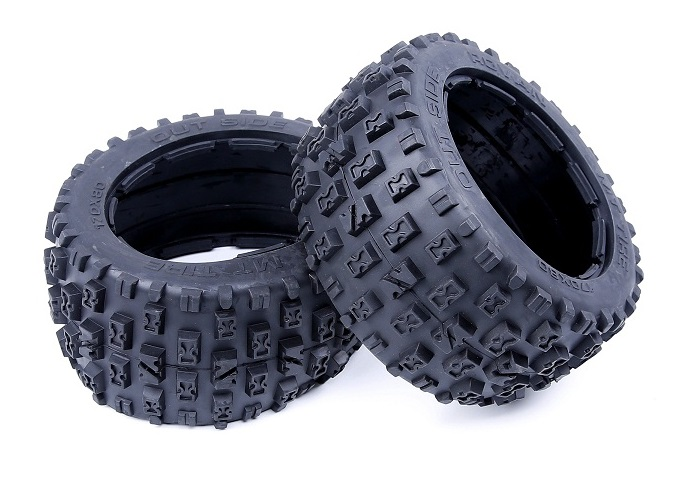 Подробнее о 1/5 Scale Rc Baja Spare Parts Rear Knobby Wheel Tyres Skin For HPI KM Rovan BAJA 5B 2.0SS RC Car New Upgraded Parts 1 5 rc car parts front knobby wasteland wheel tire x 2pcs set for 1 5 scale hpi rovan baja 5t 5sc