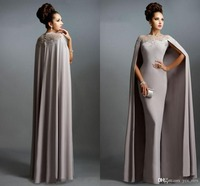 Официальная Вечеринка vestido novia вечерние платья для свадьбы невеста гость 2018 дешевые длинные с накидкой Кружева мама невесты платья