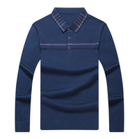 New arrival 2018 men's long sleeved cotton stripes sweater fashion and hot pullover men brand new of Wholesale