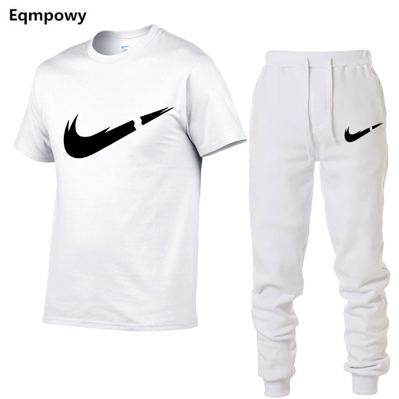 HTB1LfuPNYPpK1RjSZFFq6y5PpXaK 2019 Summer New Men's T shirt Tracksuit Casual Suits gym Clothing Man Sets Tops+Pants Male sweatshirt Men Brand T Shirt Set