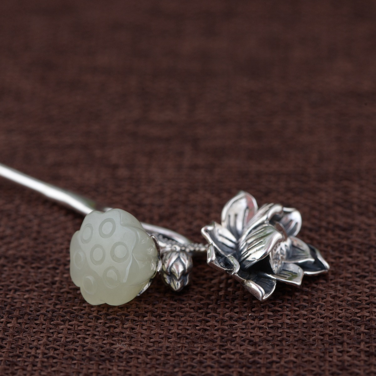 Jewelry & Accessories 2 Prong Carved Ebony Wooden Hair Stick Chinese Sticks Glazed Glass Flower Freshwater Pearl Jewelry Hair Accessories Wigo0964