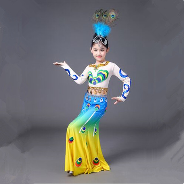 chinese peacock dance costumes peacock costume peacock princess cosplay halloween costumes national dance clothes for women