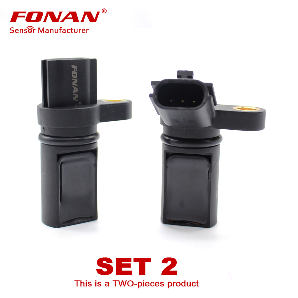 Set of 2 Camshaft Crankshaft Position Sensor Left Right Set for Infiniti Nissan