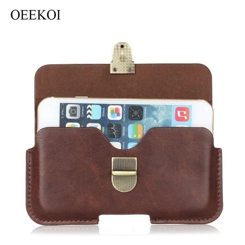 OEEKOI PU Leather Belt Clip Pouch Cover Case for Prestigio Muze E7 LTE