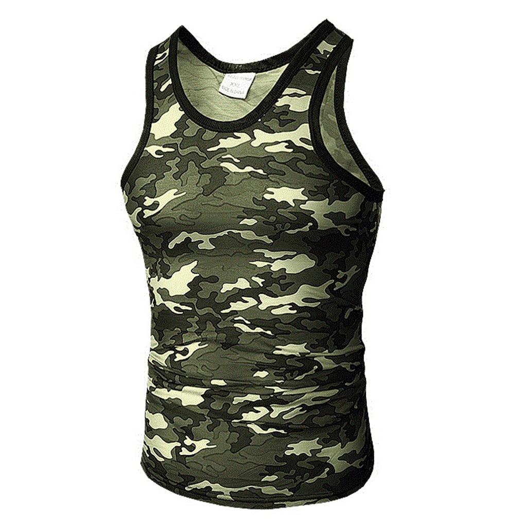 Fashion bodybuilding stringer Camouflage   tank     top   men fitness vest muscle guys sleeveless vest