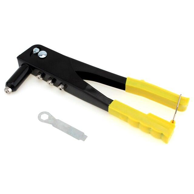 Rebitador Da mão Manual de peso Leve Kit de Arma de Rebite Cego Rebite Mão Ferramenta Sarjeta Sarjeta Reparação Heavy Duty Ferramenta Profissional