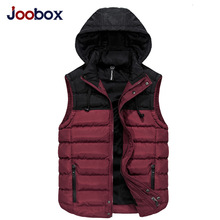 JOOBOX 2017 Men's Sleeveless Vest Homme Winter Casual Coats Male Cotton-Padded Men's Warm Vest Photographer Men Waistcoat  3XL