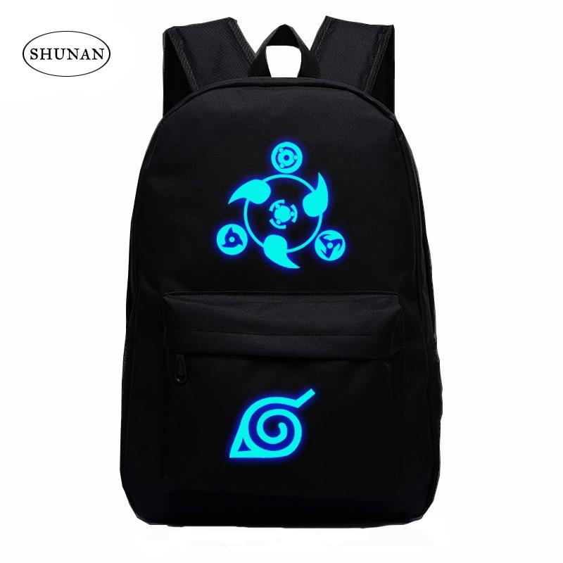 VEEVANV 2016 Naruto Luminous Rucksacks Japan Anime Printing Backpacks Luminous Backpack For Boy And Girl Fans Canvas Backpack