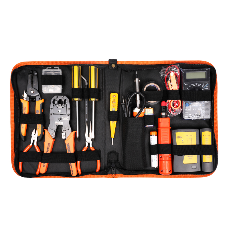 все цены на Jakemy Professional Portable LAN Network Tool Kit Cable Tester Link Tester Multimeter Crimping Wire Stripping Pliers for PC NET онлайн