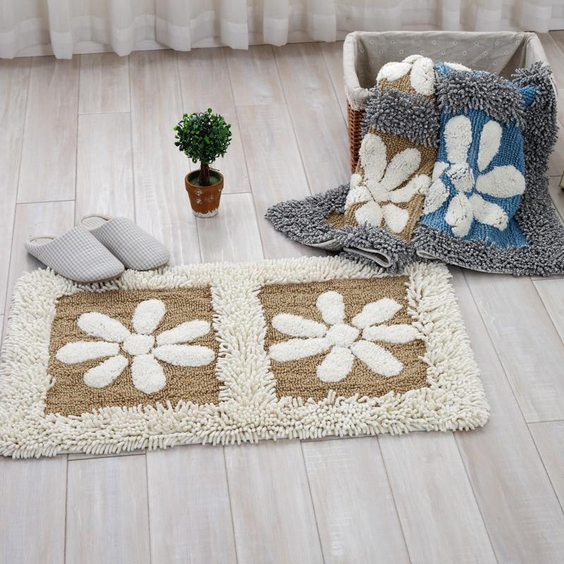 فرش 100 C پنبه ای درب کف حیاط ضد لغزش نرم - منسوجات خانگی