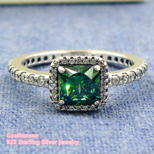 9a8560230 2018 Valentine's Day Timeless Elegance Rings with Green & Clear CZ 100%  Authentic 925 Sterling
