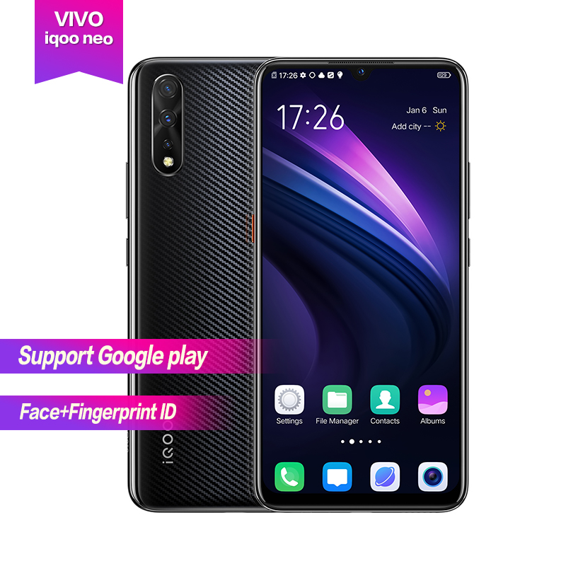 "Vivo iqoo Neo Android 9.0 6.38"" AMOLED Full Screen 1080*2340 Octa core 6g 128g 4500mAh Face+Fingerprint ID 22.5w Flash charge"