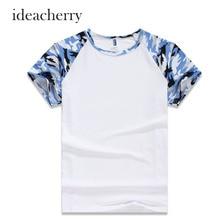 2016 Hot Brand Clothing Men's T Shirt Camouflage Hip Hop White Modal Tee Homme T-shirt dos homens camisetas