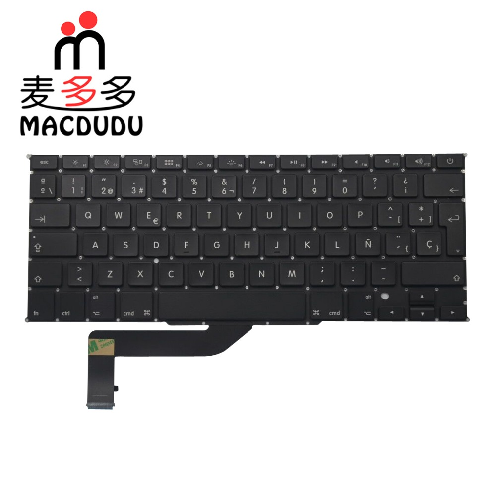 "New Spanish Keyboard For MacBook Pro Retina 15"" A1398 SP Spain keyboard 2012 2013 2014 2015"